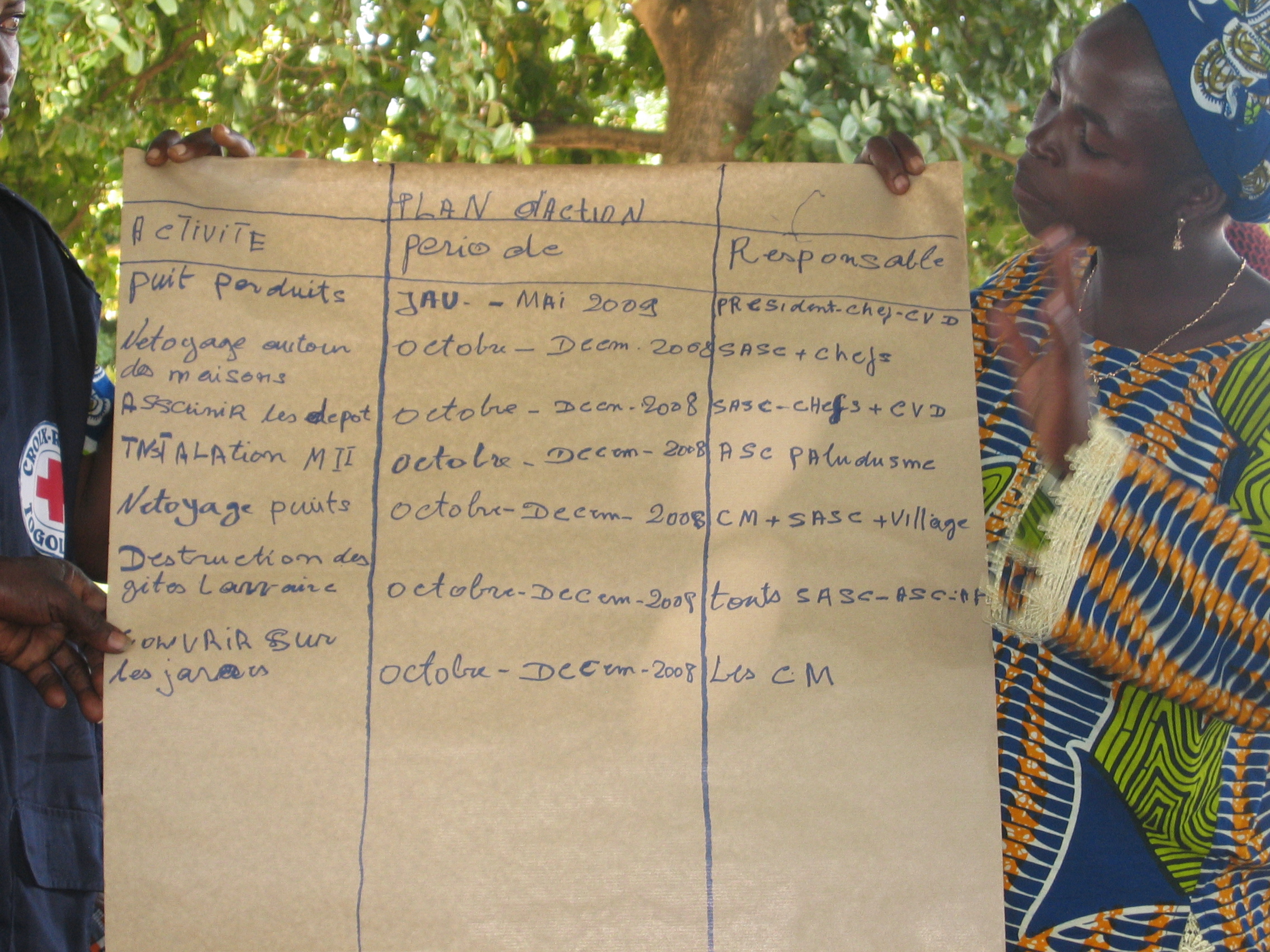 Action plan against malaria