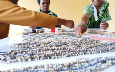 Presenting Dorcus Beads community in Kenya